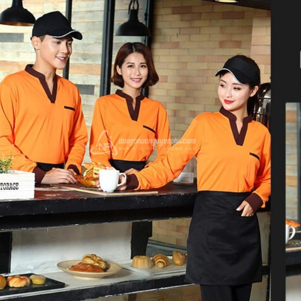 Đồng phục quán cafe-Đồng phục Coffee Shop mẫu 2