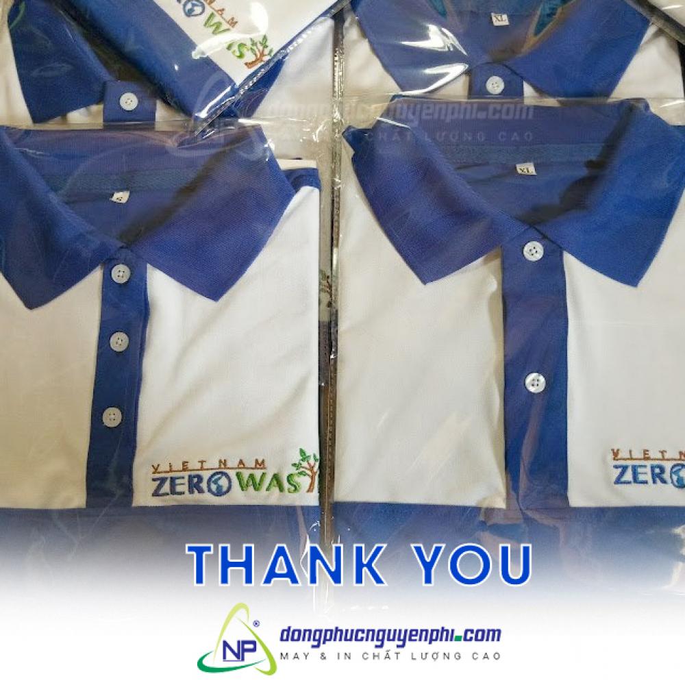 Đồng phục công ty-May áo đồng phục công ty VIETNAM ZERO WAS