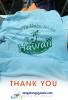 Đồng phục công ty-May áo đồng phục quán trà sữa Hawaii
